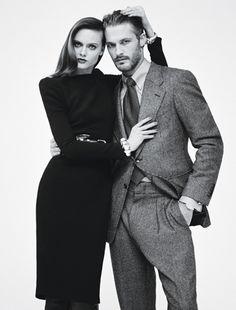 Model Ben Hill with his girlfriend, model Zuzana Gregorova