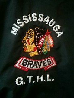 Mississauga Braves Player worn team jacket GTHL Black Hawks.