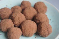 Snelle chocoladetruffels (suikervrij, zuivelvrij, glutenvrij, vegan)
