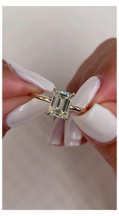 Emerald Cut Diamond Engagement Ring, Emerald Cut Rings, Beautiful Engagement Rings, Engagement Ring Cuts, Emerald Cut Diamonds, Diamond Cuts, Emerald Cut Wedding Band, Bold Rings, Ruby Rings