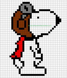 Minecraft Pixel Art Templates: Snoopy