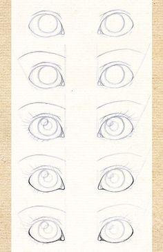 Поэтапное рисование карандашом - глаза