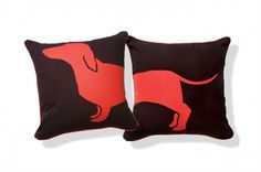 Dachshund Throw Pillows...these are my spring break project except with different colors!!!....I'm doxie obsessed!