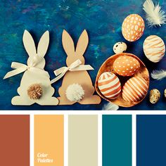 blue and brown, brown and black, brown and blue, brown and orange, carrot, color matching, color of carrot cakes, color of red skin, color palette to decorate for Easter table decor, colour combination for Easter holiday, honey color, pastel blue, reddish-brown color, shades of brown.
