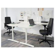 BEKANT ъглова работна маса, лява - IKEA