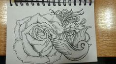 Birds and roses #roses #lovedrawing #bird #diamonds #loveswirls #paisleypattern