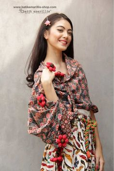 Batik Amarillis made in Indonesia www.batikamarillis-shop.com         batik amarillis's blooming forever scarf Gorgeous ,unique and special Blooming forever scarf it's made of batik Cirebon with hand made 6 flowers at the end, can be tied and styled in many ways       #fashioneditorial#fashionphotography#batikindonesia
