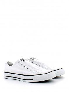 Slip-on bassa in tela bianca. L Angolo Calzature · Mocassini e Scarpe Senza  Lacci Donna c29f6da533c