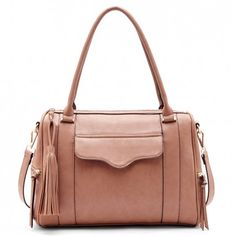 Women's Natural Faux Leather Oversize Satchel W/ Tassel | Yessica by Sole Society