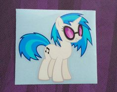 DJ Pon3 - Vinyl Scratch -  MLP FIM for Cars and Laptops Music Dj Pony by makemygraphic. Explore more products on http://makemygraphic.etsy.com