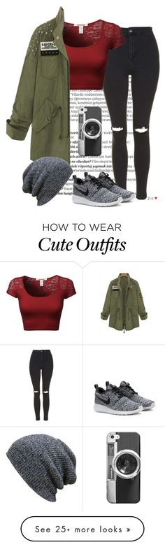 """""""Unbenannt #247"""" by cheeky-style on Polyvore featuring Balmain, Topshop, NIKE and Casetify"""