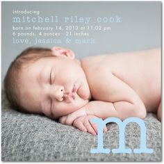 from Tinyprints.com - birth announcement