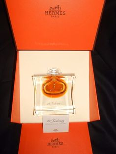 HERMES 24 FAUBOURG SAINT LOUIS CRYSTAL PERFUME PARFUM BOTTLE L.E. w/BOX