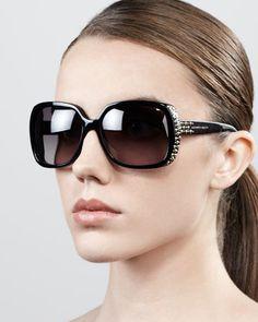 2dd3429c11 Studded Oversized Wrap Sunglasses