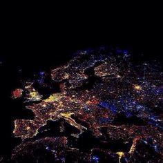 Europe around midnight (aww i see Paris)
