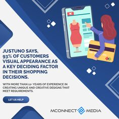 Justuno says, 93% of #customers 🛒view #VisualAppearance as a key #DecidingFactor in their #Shopping decisions. 😍 With more than 11+ years of #eCommerce experience in creating unique & #CreativeDesigns 👨💻 that meet your requirements. 🚀 Let us Help: Revenue Model, Core Competencies, Ecommerce Solutions, Website Themes, User Interface Design, Creative Design, Meet, Let It Be, Unique