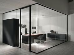 glass divider partition ideas modern design