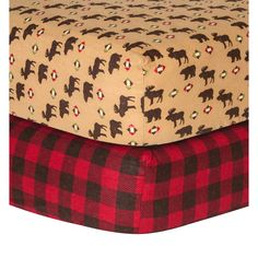 Trend Lab Northwoods Checkered Flannel Sheet Pack) - Overstock™ Shopping - Big Discounts on Trend Lab Baby Bed Sheets Bedding Shop, Crib Bedding, Comforter, Baby Online, Crib Sheets, Baby Boy Nurseries, Jelsa, Kid Beds, Boy Room