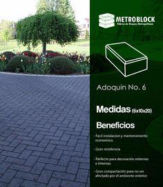 #adoquin N.6 peatonal o tráfico liviano, producto decorativo ambientalista en cemento.