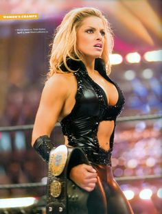 Trish Stratus at WrestleMania 22 against Mickie James for the Women's Championship. 2006