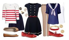 Teacher Outfits on a Teacher's Budget 97: Nautical by allij28 on Polyvore featuring polyvore, ファッション, style, Cutie, MANGO, Tara Starlet, Therapy, Gap, London Rebel, BaubleBar, Wallis, LC Lauren Conrad, women's clothing, women's fashion, women, female, woman, misses and juniors
