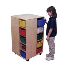 Cubby Spinner Mobile Storage Unit 20 Compartment Cubby Virco