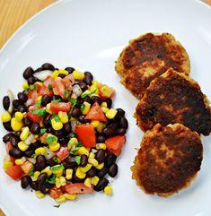 Tuna Cakes with Black Bean and Corn Salsa