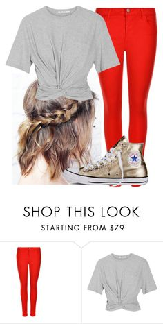 """Untitled #10379"" by imblissedoff ❤ liked on Polyvore featuring J Brand, T By Alexander Wang and Converse"