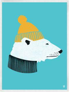 Polar Bear Print | My Little Underground
