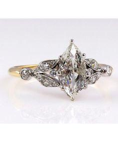 Vintage Engagement Rings We Love. - Dujour #DazzlingDiamondEngagementRings #UniqueEngagementRings