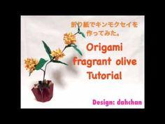 Origami Fragrant olive Tutorial★折り紙でキンモクセイを作ってみた