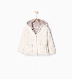 Knitted three quarter length coat with hood-Coats-Baby girl-Baby | 3 months - 3 years-KIDS | ZARA United States