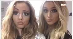 princesses of the pout Perrie Edwards and Jade Thirlwall