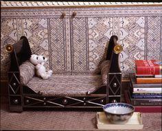 Winnie's bed, NY apartment of Howard Slatkin, from FIFTH AVENUE STYLE
