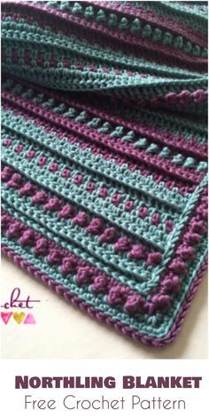 Northling Blanket - Free Crochet Pattern Follow us for more FREE crocheting patterns for Afghans, Blankets, Throws.