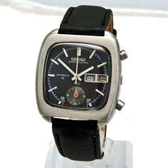 SOLD :: Seiko 5 Hands Chronograph - RARE - Automatic 1984 Watch - Retro Vintage Watch - Harrogate - Rolex - Breitling - Tudor - Omega - Seiko - Casio - Zenith - buy watches - watch mens - ladies watch - vintage watches - 50s 60s 70s 80s 90s