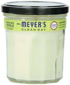 Mrs. Meyer's Clean Day Soy Candle, Lemon Verbena, 7.2 Ounce Jar
