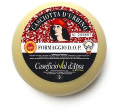 Casciotta d'Urbino PDO is a type of casciotta Italian cheese made from 70% sheep's milk and 30% whole cow's milk. This semi-soft cheese can only be made in the Pesaro-Urbino province of Italy with features and characteristics attributable to the area. 'Cascio' which means cheese from an ancient past was produced since the times of Dukes of Montefeltro.