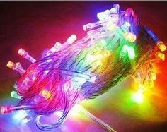 Veecome 10m 100 Multi-color LED String Lights ,Decorated Lights for Weddings,christmas Xmas Parties and House Gardens. by VeeCome. $8.99. Super bright and perfect decoration for party, room, garden, home and Christmas. Total 100 led light string.. Package includes: 1x 10M 100 LED Fairy String Lights (Mix-color). Main cable is 10 meters, and plug in to controller is about 50cm. Voltage: 110V. Notes: Keep the string from dampness or rain.. Every string has 8 different modes: combin...