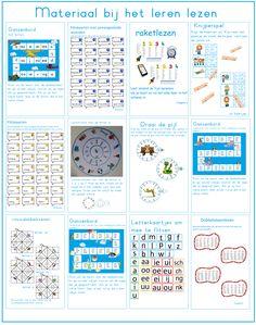 Veel verschillende spelletjes om te leren lezen in groep 3