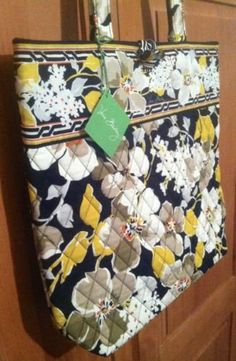 239481f6a8 Vera Bradley Tote Dogwood retired nwt shopper travel bag