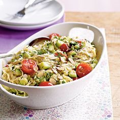 Pasta with Zucchini and Toasted Almonds Recipe