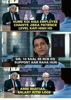 27 memes this IPL season to put salt to RCBs flaring wounds Very Funny Memes, Funny School Memes, Funny True Quotes, Some Funny Jokes, Funny Relatable Memes, Funny Facts, Hilarious, Memes Humor, Comedy Memes