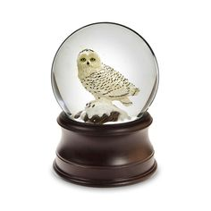 "Snowy Owl Snow Globe | Let it Snow  JUST ARRIVED! Tune: ""Let it Snow"" 5.5""H, 18-note Price: $35.00"