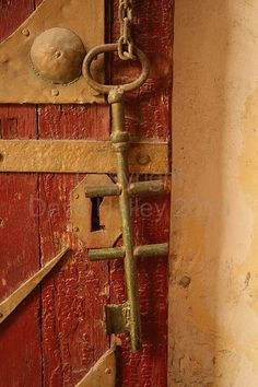 ˚Old Key Hanging on Door at Coptic - Cairo, Egypt
