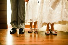 Bride and Groom  and daughter Portraits - Portraits of just feet. at The Hyatt Lodge at McDonald's Campus, Oak Brook Illinois, Grand Oaks Pavillion Wedding. By Mindy Joy Photography