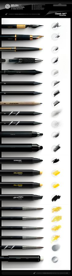 This is a stunning brush pack for photoshop which realistically mimics some beautiful pens and brushes. Absolutely worth the money.