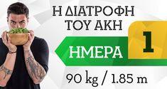 Η διατροφή του Άκη 90kg/185cm- 1η μέρα