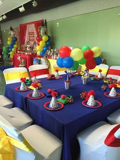 If you like PAW Patrol or the canine patrol, you're in luck today we bring you several decorating ideas for PAW Patrol's birthday or the c. Carnival Party Decorations, Paw Patrol Party Decorations, Carnival Themed Party, Carnival Birthday Parties, Carnival Themes, Circus Birthday, Circus Party, First Birthday Parties, Birthday Party Themes
