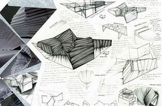 Another comprehensive sketchbook page from the CIE Design and Technology project by Nikau Hindin, this innovative toilet design was inspired by a crunched up piece of paper (the result of a photocopying accident).